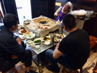 China Jianshui diners with tofu